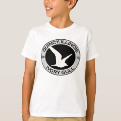 Kids' Hanes TAGLESS® T-Shirt with Quincy Ivory Gull design