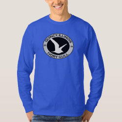 Men's Basic Long Sleeve T-Shirt with Quincy Ivory Gull design