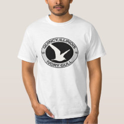Men's Crew Value T-Shirt with Quincy Ivory Gull design