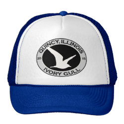 Trucker Hat with Quincy Ivory Gull design
