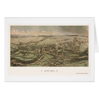 Quincy, MA Panoramic Map - 1877 Card