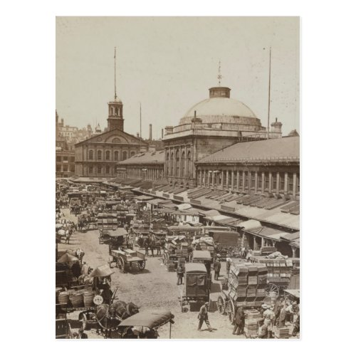 Quincy Market and Faneuil Hall Boston Postcard