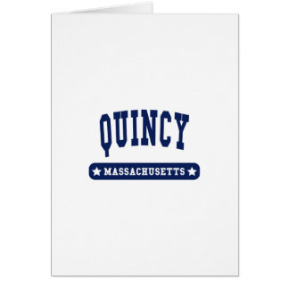 Quincy Massachusetts College Style tee shirts Greeting Cards