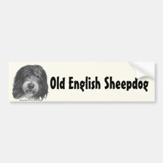 Quincy, Old English Sheepdog Car Bumper Sticker