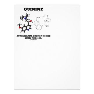 Quinine Antimalarial Drug Of Choice Until 1940s Customized Letterhead