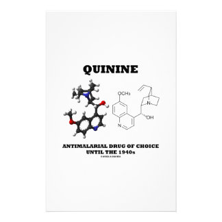Quinine Antimalarial Drug Of Choice Until 1940s Stationery