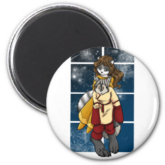 Quinn and Darrik 2 Inch Round Magnet