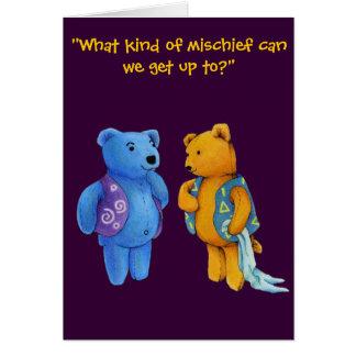 """""""Quinn and Liam"""" Teddy Bears Card"""