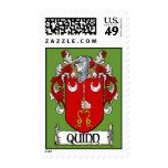 Quinn Coat of Arms Postage Stamps