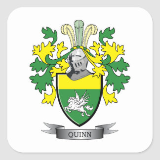 Quinn Coat of Arms Square Sticker