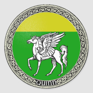 Quinn Family Arms Classic Round Sticker