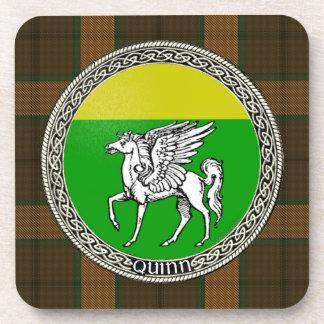 Quinn Family Badge Cork Coaster Set