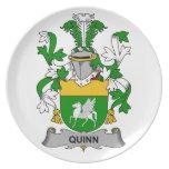 Quinn Family Crest Dinner Plates