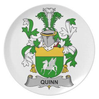 Quinn Family Crest Melamine Plate