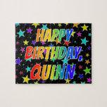 """[ Thumbnail: """"Quinn"""" First Name, Fun """"Happy Birthday"""" Jigsaw Puzzle ]"""