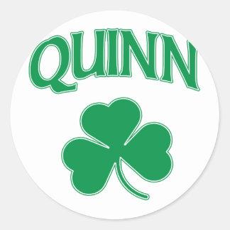 Quinn Irish Classic Round Sticker