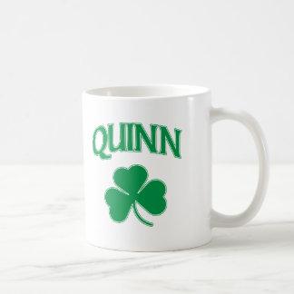 Quinn Irish Classic White Coffee Mug