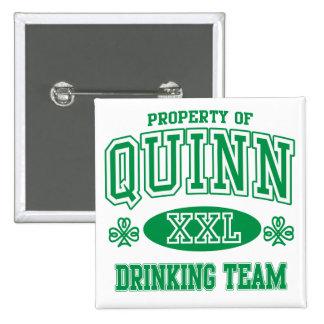 Quinn Irish Drinking Team Button