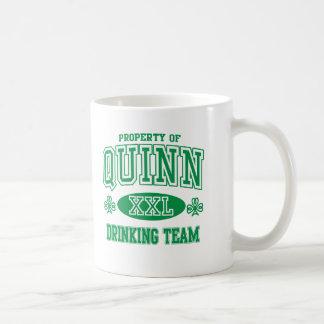 Quinn Irish Drinking Team Classic White Coffee Mug