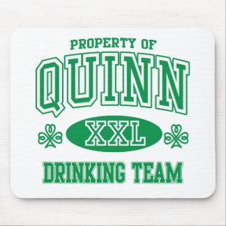 Quinn Irish Drinking Team Mouse Pad
