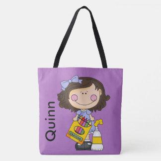 Quinn Loves Crayons Tote Bag