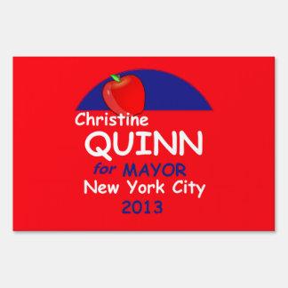 Quinn Mayor 2013 Lawn Sign