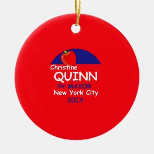 Quinn NYC Mayor 2013 Ceramic Ornament