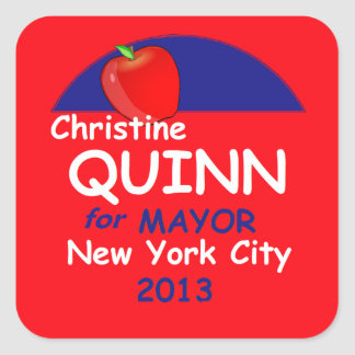 Quinn NYC Mayor 2013 Stickers
