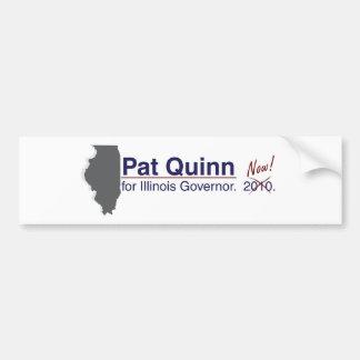 Quinn para el gobernador pegatina para auto