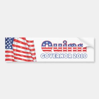 Quinn Patriotic American Flag 2010 Elections Bumper Sticker