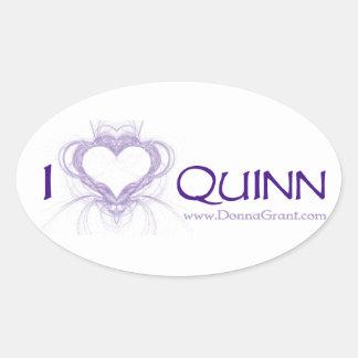 Quinn Colcomanias De Óval Personalizadas