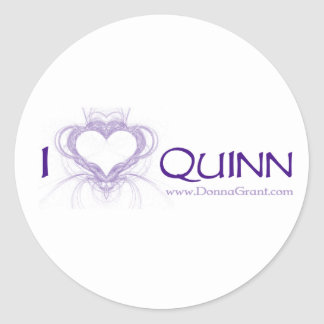 Quinn Pegatina Redonda
