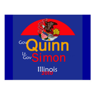 QUINN SIMON Illinois Postcard
