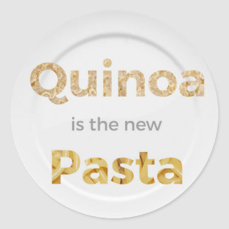 Quinoa is the new Pasta Classic Round Sticker