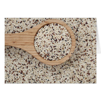 Quinoa with Wooden Spoon Card