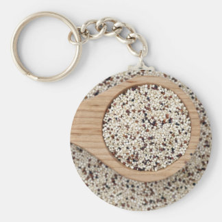 Quinoa with Wooden Spoon Keychain