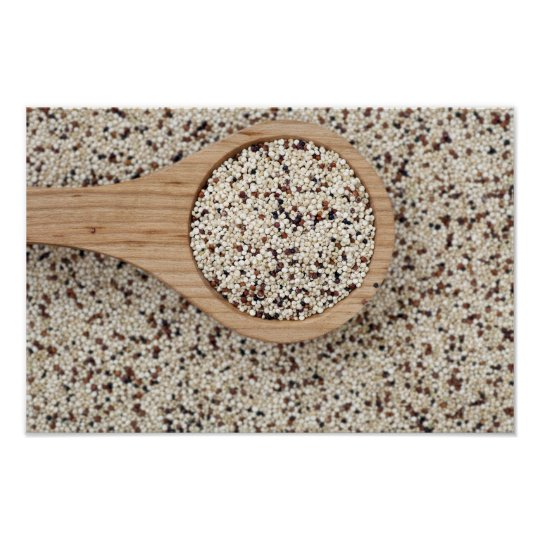 Quinoa with Wooden Spoon Poster