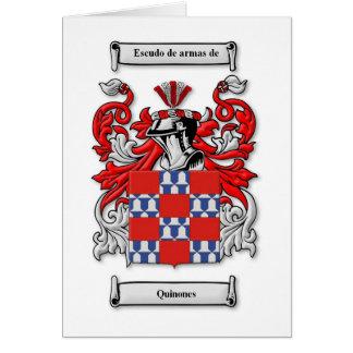 Quinones Coat of Arms Greeting Card