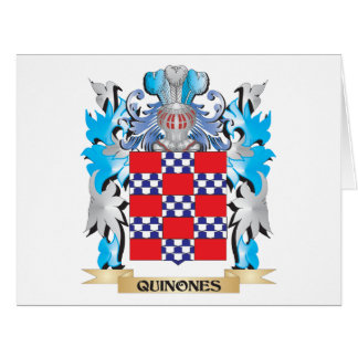 Quinones Coat of Arms - Family Crest Large Greeting Card