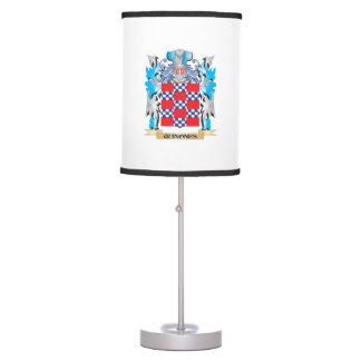 Quinones Coat of Arms - Family Crest Table Lamps