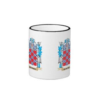 Quinones Coat of Arms - Family Crest Ringer Coffee Mug