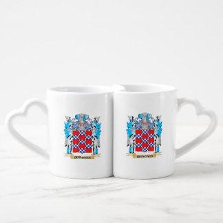 Quinones Coat of Arms - Family Crest Couples' Coffee Mug Set
