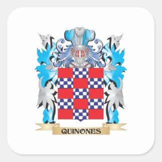 Quinones Coat of Arms - Family Crest Square Sticker