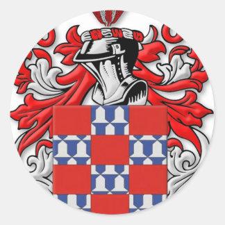 Quinones Coat of Arms Classic Round Sticker