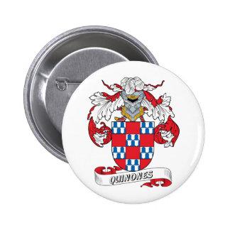 Quinones Family Crest 2 Inch Round Button