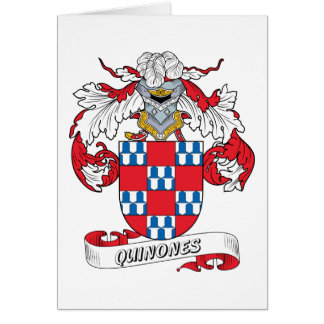 Quinones Family Crest Greeting Card