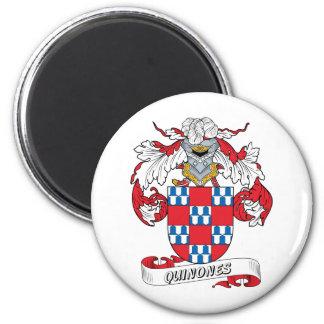 Quinones Family Crest 2 Inch Round Magnet