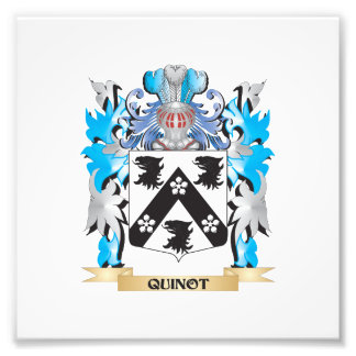 Quinot Coat of Arms - Family Crest Art Photo