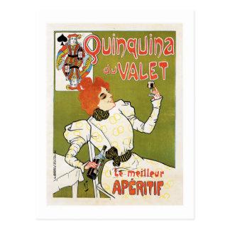 Quinquina Du Valet Le Meilleur Aperitif Drink Ad Postcard