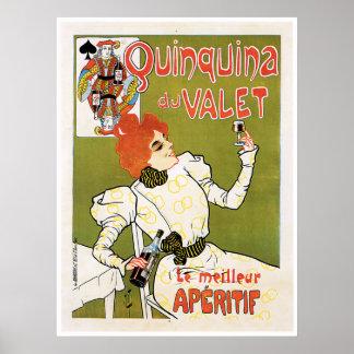 Quinquina Du Valet Le Meilleur Aperitif Drink Ad Print